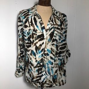 Tommy Bahama Womens Brown,teal,whitetop. XL